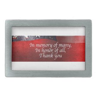 Dans la mémoire de beaucoup en l'honneur de tout boucles de ceinture rectangulaires