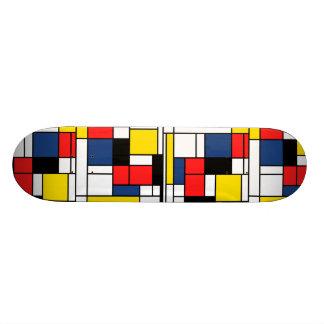 Dans la mémoire de Mondrian - plate-forme de patin Skateboard