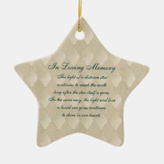 Dans la mort affectueuse Memoria de perles et de Ornement Étoile En Céramique