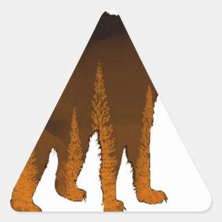 Dans la mystique sticker triangulaire