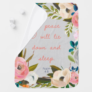 Dans la paix je me coucherai et couverture de bébé