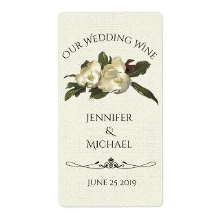 Dans l'amour - vin vintage de coutume de mariage étiquette d'expédition