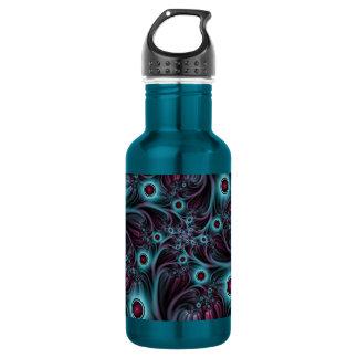 Dans l'art bleu de fractale d'abrégé sur rose de bouteille d'eau
