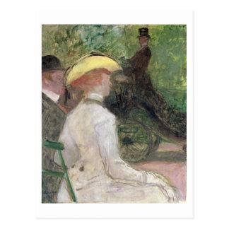 Dans le Bois de Boulogne, 1901 (huile sur la Carte Postale