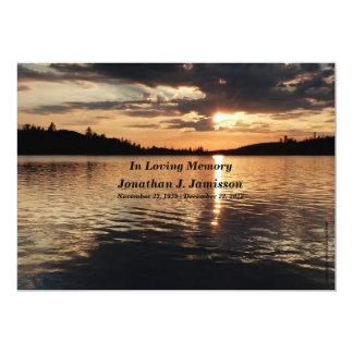Dans le coucher du soleil affectueux d'invitation carton d'invitation  12,7 cm x 17,78 cm
