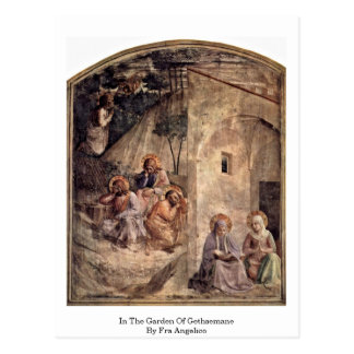 Dans le jardin de Gethsemane par ATF Angelico Carte Postale