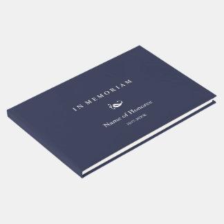 Dans le livre commémoratif élégant d'invité de