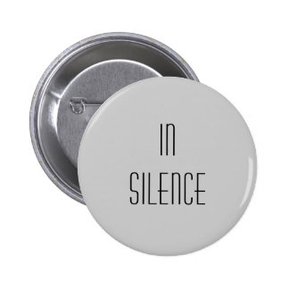 Dans le silence--Moderne gris Pin's