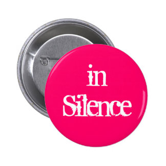 Dans le silence--rose/blanc pin's