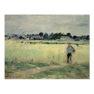 Dans le Wheatfield chez Gennevilliers, 1875 Carte Postale