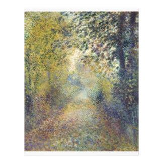 Dans les bois par Pierre-Auguste Renoir Prospectus 21,6 Cm X 24,94 Cm