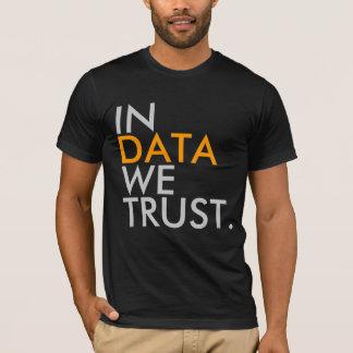 Dans les données nous faisons confiance au T-shirt