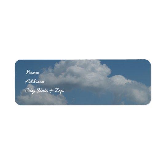 Dans les nuages 2 étiquettes de adresse