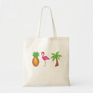 Dans les tropiques ananas, palmier Fourre-tout de Sacs En Toile