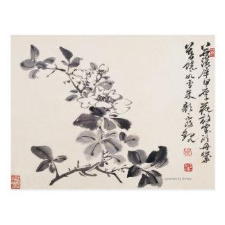Dans l'imitation des fleurs No.5 de Xu Wei Carte Postale