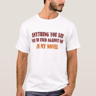Dans mon T-shirt nouveau (lettrage brun)