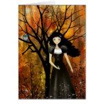 Dans une forêt d'automne carte de vœux