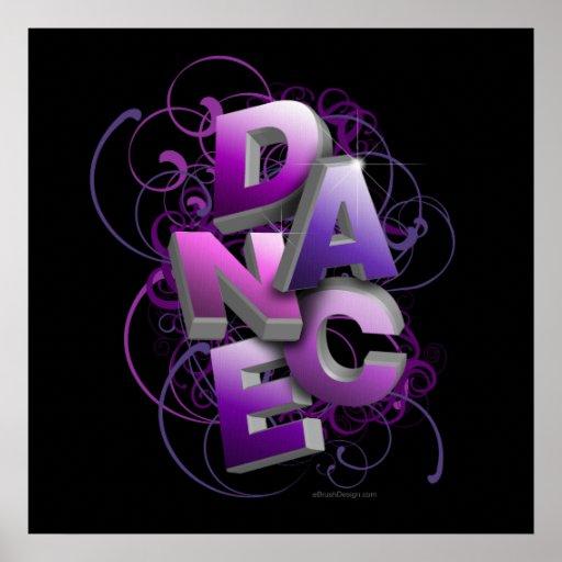 danse 3D (été) Affiche