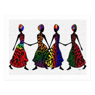 Danse africaine de fraternité carte postale