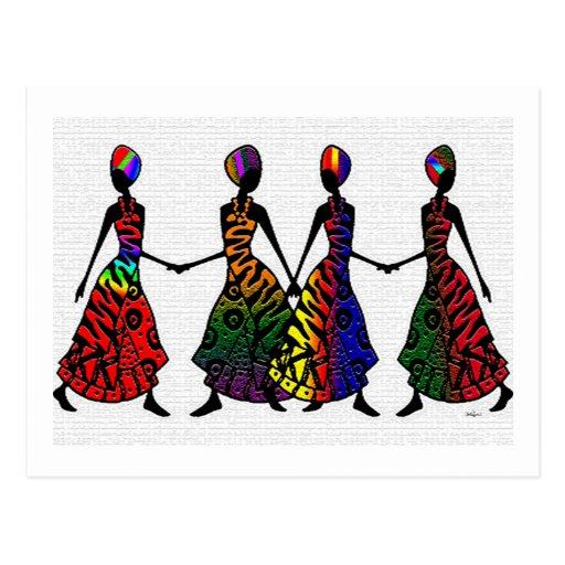 Danse africaine de fraternité cartes postales