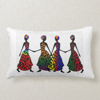 Danse africaine de fraternité oreiller