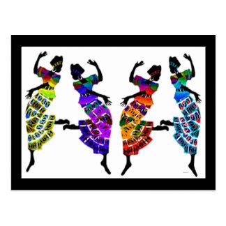 Danse africaine de pied cartes postales