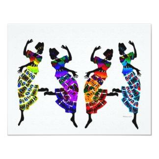 Danse africaine de pied faire-parts
