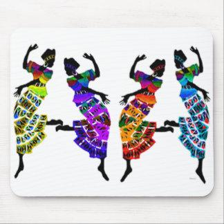 Danse africaine de pied tapis de souris