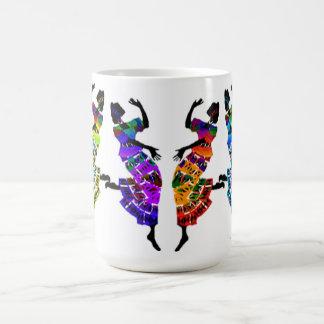 Danse africaine de pied tasses à café