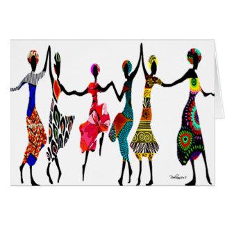 Danse africaine d'éloge carte de vœux