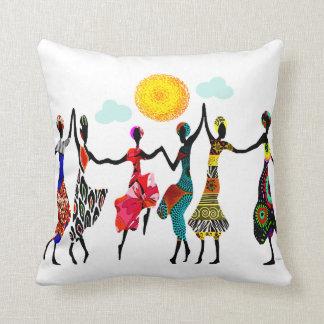 Danse africaine d'éloge coussin décoratif