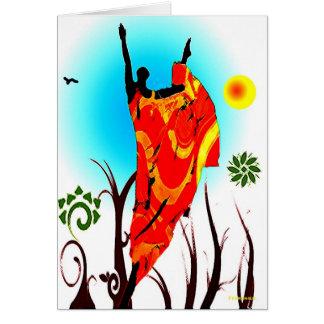 Danse africaine d'été carte de vœux
