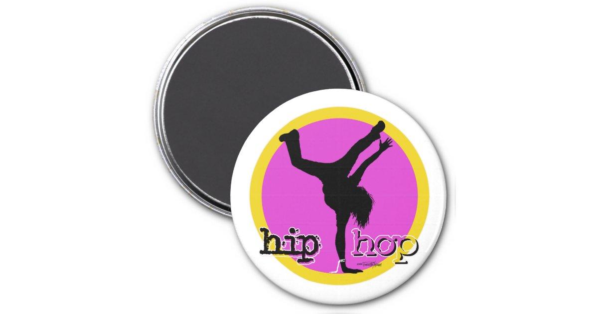Danse Aimant Rose De Fille De Hip Hop Zazzle