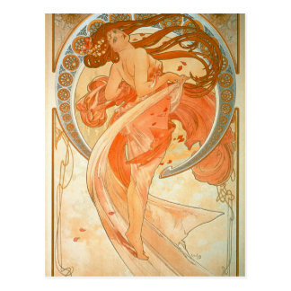 """Danse"" - art Nouveau - Alphonse Mucha Carte Postale"