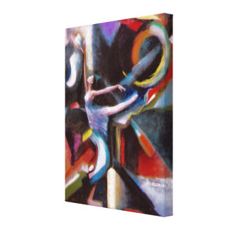 Danse avec le vent sur la toile enveloppée toiles