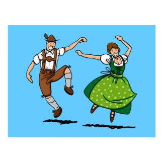 Danse bavaroise de couples d'Oktoberfest de carte
