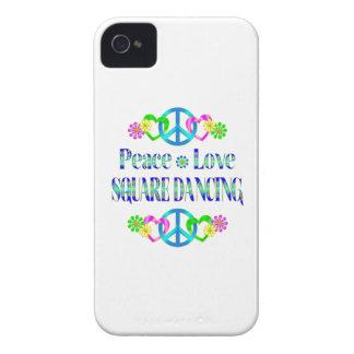 Danse carrée d amour de paix coque iPhone 4 Case-Mate