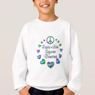Danse carrée d'amour de paix sweatshirt