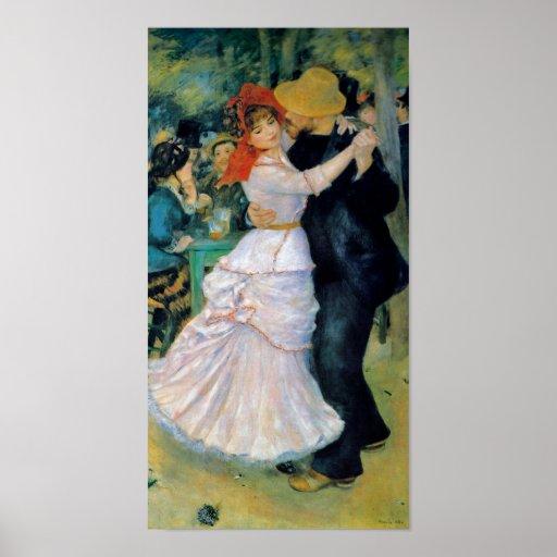 Danse chez Bougival par la copie de beaux-arts de  Affiche