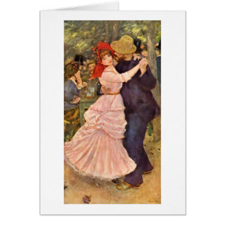 Danse chez Bougival par Pierre-Auguste Renoir Carte De Vœux