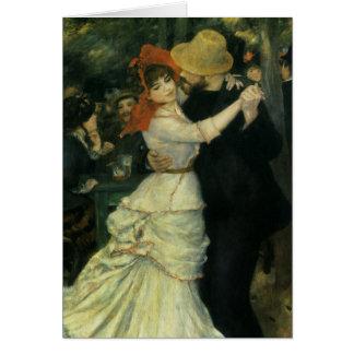 Danse chez Bougival par Renoir, impressionisme Carte De Vœux