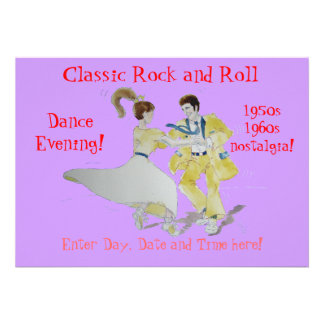 Danse classique de swing de rock cartons d'invitation