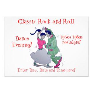 Danse classique de swing de rock invitation personnalisable