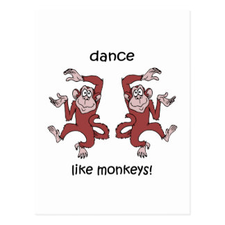 Danse comme des singes cartes postales