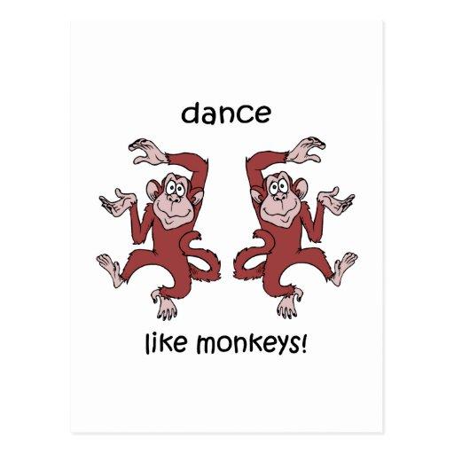 Danse comme des singes ! cartes postales
