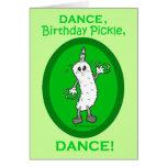 Danse, conserves au vinaigre d'anniversaire, danse carte