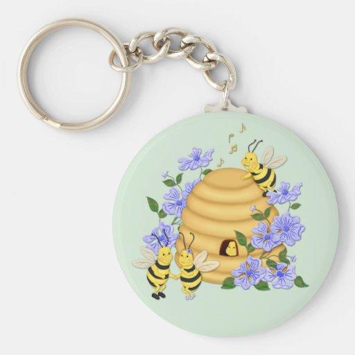 Danse d'abeille porte-clés