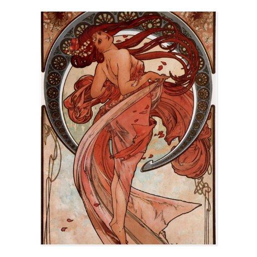 Danse d'Alfons Mucha Cartes Postales