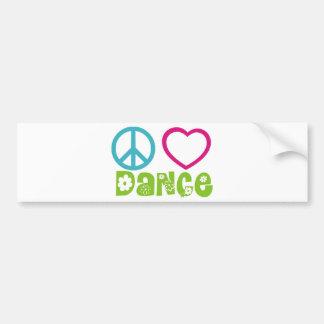 Danse d'amour de paix autocollant pour voiture