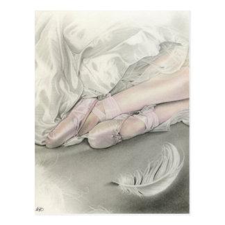Danse de ballerine de la carte postale de cygne